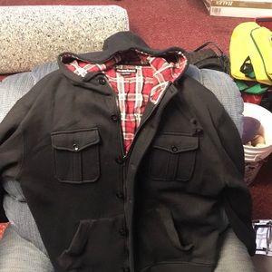 Ecko Hooded Sweater Jacket XL